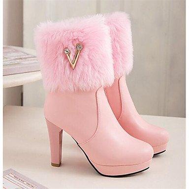 Nobuck Botas Blanco Casual 10 Blushing Cms 12 Confort amp;xuezi Mujer Rosa Pu Pink Otoño Primavera Gll Cuero xqCEXzv