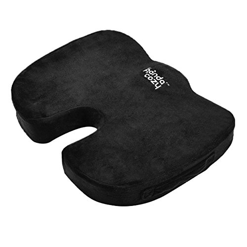 Coccyx-Orthopedic-Memory-Foam-Seat-Cushion-For-Sciatica-Tailbone-Pregnancy-Lower-Back-Pain-Relief-Support-Thick-Padding-Anti-Slip-Bottom-Seat-Pillow-for-Office-Chair-Car-Plane-By-Panda-Cozy
