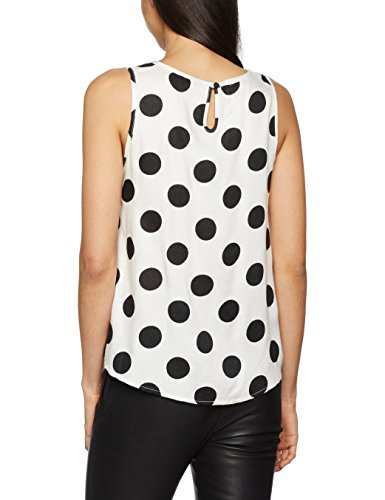 VERO MODA Vmsally Joe S/l Midi Top Lcs, Débardeur Femme, Multicolore (Snow White), 36 (Taille Fabricant: Small)