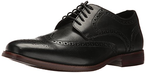 Rockport Men's Style Purpose Wing Tip Oxford, black leather, 11 W ()