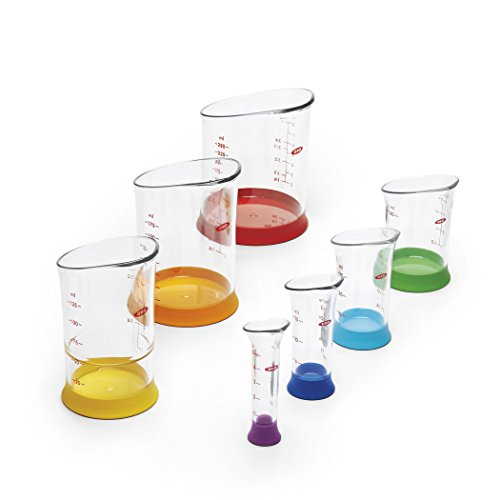 OXO Good Grips 7-Piece Nesting Measuring Beaker Set, Multicolored by OXO (Image #6)