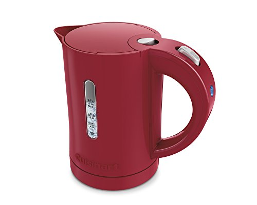 Cuisinart CK-5R 086279100498 CK-5W Electric QuicKettle, 0.5L/17OZ-Red, One Size, Red