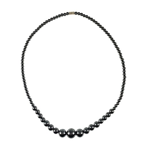 Hematite Necklace - 20 inches long - Spinnaker - Pin Diaper Diamond Gold