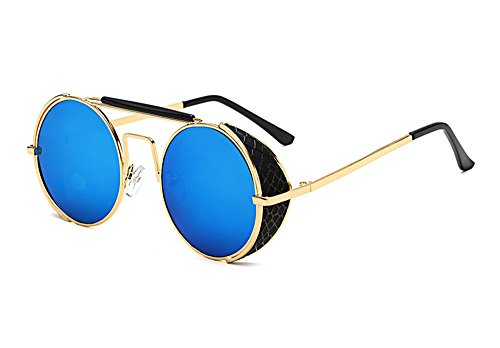 UV400 et femmes Or Non Beam Bleu Double hommes Hellomiko pour soleil Sunglasses protectrices Vintage Retro polarized lunettes de gP74xBIq