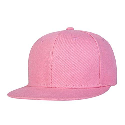 Snapback Baseball Cap Hip Sombrero Accesorios Pink Unisex Clásico Gorras Plano Hats Hop de Béisbol LINNUO Hats 4xtYqw