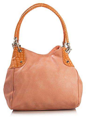 Look Peach Pockets Handbag Handbag Classic Leather Big Womens silvert Shop Shoulder Size Multiple Medium Vegan w8wqOHZp