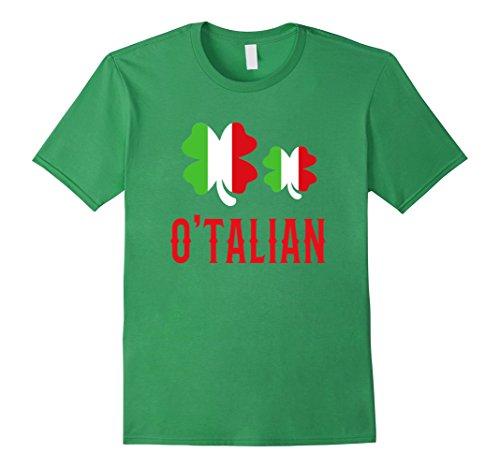 Proud Irish Girl (Men's O-Talian Irish Italian 4 Leaf Clover Gift T-Shirt 2XL)