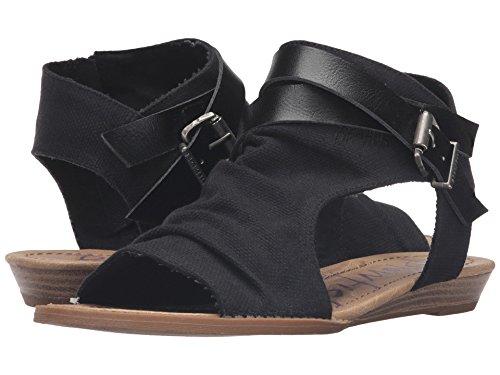 Blowfish Women's Balla Wedge Sandal (36-37 M EU / 6 B(M) US, Solid Black)