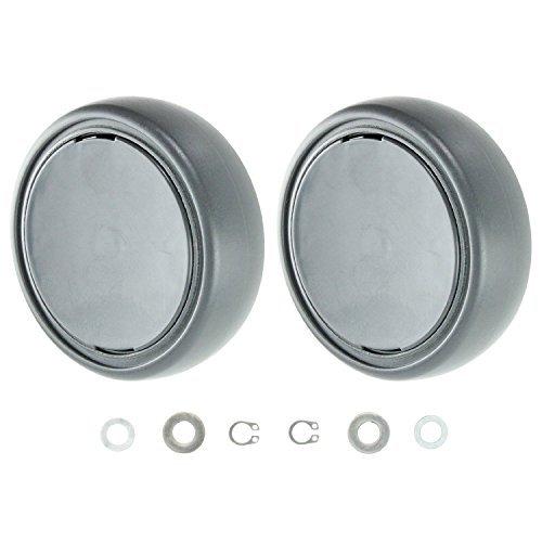 Qualtex Rear Wheels & End Cap Covers For GTECH AirRam Vacuum Cleaners 2PK