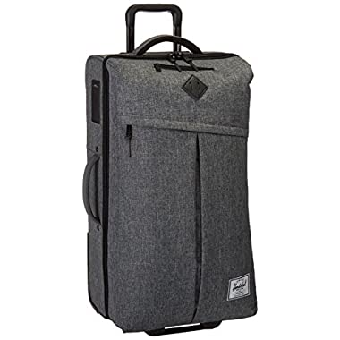 Herschel Supply Co. Parcel Softside Luggage, Raven Crosshatch/Black Pebbled Leather