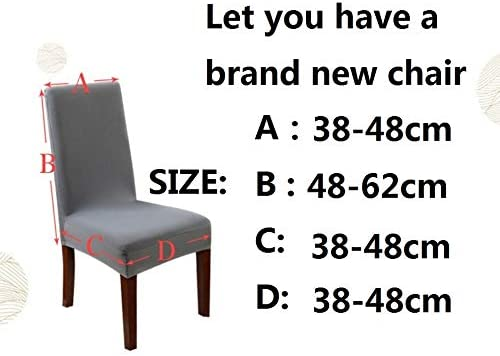 JZZCIDGa Chair Slipcover Washable Spandex Chair Covers Stretch Chair Covers Chair Seat Protector For Dinning Room Set Of 4