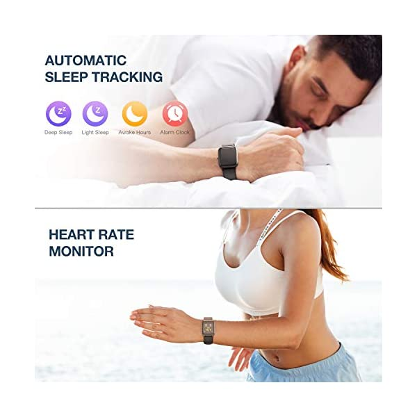 41ZUZKCLnGL Muzili Smart Watch IP68 Waterproof Fitness Tracker for Swimming 1.3'' Large Color Full Touch Screen Sport Watch with…