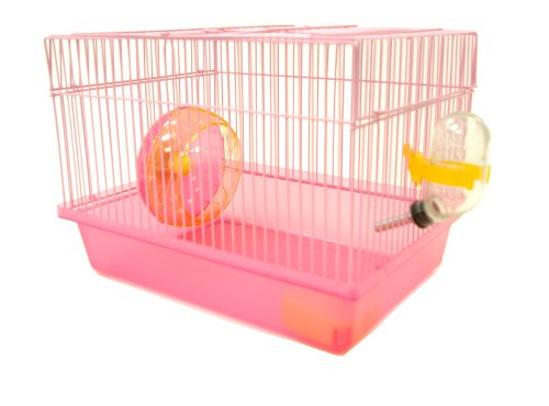 YML Single Story Hamster Cage with Small Wheel, Dish and Wat