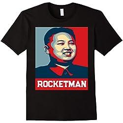 """Mens """"Rocket Man"""" Kim Jong Un T-Shirt - Funny North Korea Shirt Medium Black"""