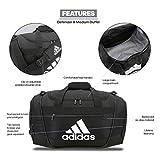 adidas Defender III Duffel Bag, Black/White, Large