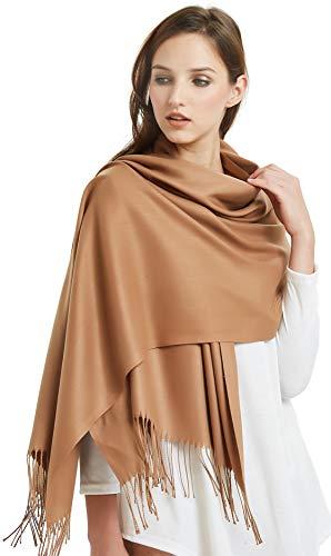 VIVIAN VINCENT Large Extra Soft Cashmere Blend Women Pashmina Shawl Wrap Stole Scarf