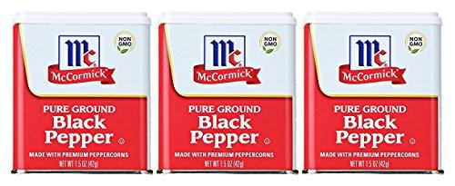 (McCormick Ground Black Pepper, 3 Pack Each 1.5 Oz)