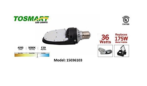 LED 180 Degree Retro Light,75 Watt E39 Parking Lot Retro Wall Pack Area Light,