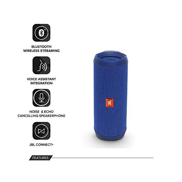 JBL Flip 4 - enceinte Bluetooth Portable Robuste - Étanche Ipx7 pour Piscine & Plage - Autonomie 12 Hrs - Qualité Audio JBL - Bleu 3