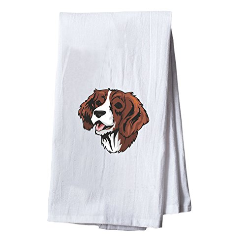 English Springer Spaniel Head Dish Flour Sack Kitchen Towel
