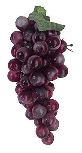 Deko Weintrauben 19 cm dunkel rot Rispe Wein Trauben Kunstobst Kunstgemüse künstliches Obst Gemüse Dekoration