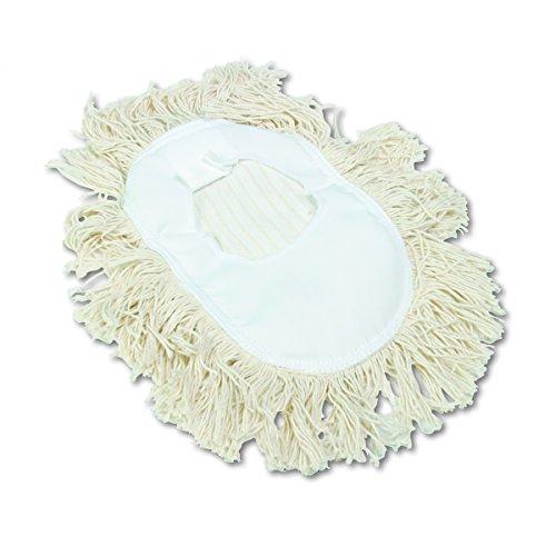 "Price comparison product image Boardwalk BWK1491 Wedge Dust Mop Head,  Cotton,  17-1 / 2"" x 13-1 / 2"" Width,  White"