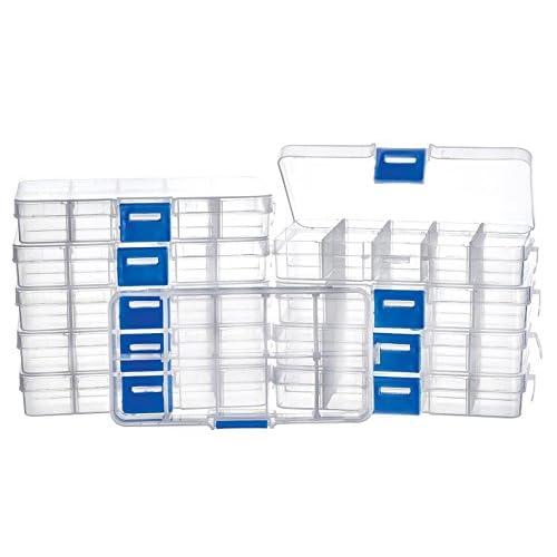 10 boîtes de tri, 10 compartiments, Gros acheteurs VBS