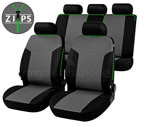 bracciolo Laterale compatibili con sedili con airbag rmg-distribuzione Coprisedili per STONIC Versione 2017 - in Poi sedili Posteriori sdoppiabili R01S0383
