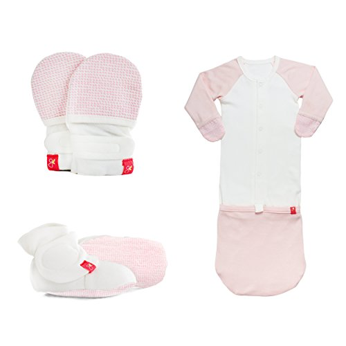 Goumikids Newborn Organic Cotton Registry Gift Set: Baby Mittens, Baby Booties and Baby Pajamas by goumikids