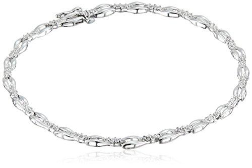 Sterling Silver Diamond Accent Bracelet, 7.25