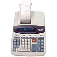 Victor 26402 Two-Color Printing Calculator, Black/Red Print, 4.6 Lines/Sec