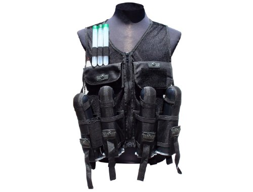 (Gen X Global GXG Paintball Lightweight Vest, Black)