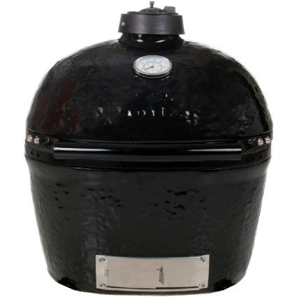 Primo 774 Ceramic Charcoal Smoker Grill, Oval Junior ()