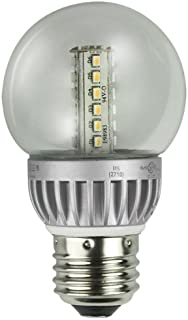 Lights of America 2326LED-LF4-24 2-Watt Power LED G16 Globe Bulb