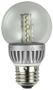 Lights of America 2326LED-LF4-24 2-Watt Power LED G16 Globe Bulb, Bright White