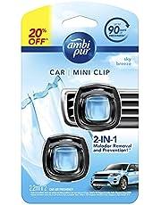 Ambipur Car Mini Clip Sky Breeze Car Air Freshener 2 x 2.2ml