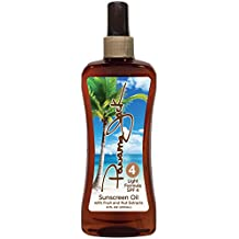 Panama Jack Sunscreen Tanning Oil with Fruit and Nut Extracts Light Formula, SPF 4, 8 fl oz