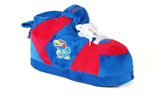 Men's and Sneaker Jayhawks Happy Kansas Feet Womens Slippers College NCAA OFFICIALLY LICENSED EqP5Ffw