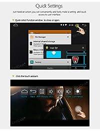Android 8.1 Coche GPS Radio Reproductor de DVD Din 2 Coche Android Navegación estéreo con WiFi y Bluetooth Quad Core 2GB 16GB 6.2 pulgadas 1024x600 Pantalla táctil capacitiva 1080p, incluye cámara trasera gratuita y control remoto