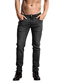 Skinny Fit Jeans Men's Younger-Looking Fashionable Colorful Super Comfy Stretch Slim Fit Tapered Jeans Pants.