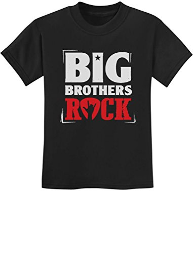 TeeStars - Boys Big Brothers Rock Best Siblings Gift Youth Kids T-Shirt Small Black - Kid Rock Merchandise