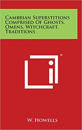 Book Cambrian Superstitions Comprised of Ghosts, Omens, Witchcraft, Traditions