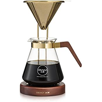 Coffee Maker That Doesnot Drip When Pouring : Amazon.com: Osaka Pour-Over Drip Brewer, 6 Cup (27 oz) Glass Carafe with Permanent Stainless ...