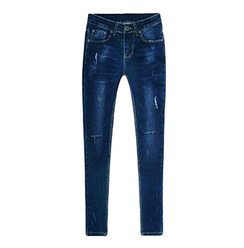 Jeans Skinny Attraenti Estate Elegante Signore Charming Dexinx Immagine2 Denim Outdoor Stretch Distressed Come I5wtXqIx