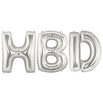 hbd short for happy birthday 40 giant letter party long lasting balloons