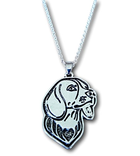 Beagle Etched Silver Chain Beagle Pendant Dog Necklace By -