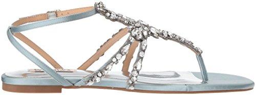 Badgley Mischka Womens Hampden Flat Sandal Crystal Blue 9QlDjOc