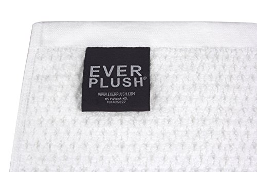 Everplush Diamond Jacquard Bath Sheet 2 Pack in White by Everplush (Image #3)