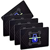 RFID Blocking Card NFC Contactless Cards Protection / 1 Card Protects Your Entire Wallet/No More Need for Single Sleeves/for Men or Women, Credit Card Holder, Wallets or Passport /5 Pieces