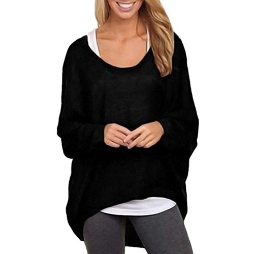Costume Ideas Wearing Jeans (Cheap Stuff For Women Long Sleeve Loose Pullover Casual Top Blouse T-Shirt (M, Black))